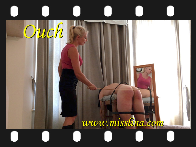 Miss Lina caning and whipping