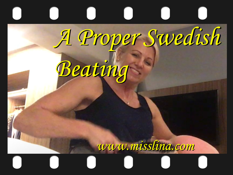 Miss Lina spanking in swedish